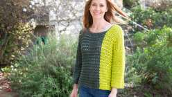 Crochet Colorblocked Sweater