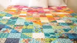 Color Dive Half-Square Triangle Quilt