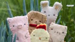 Learn how to make farm animal finger puppets with Alison of Kata Golda in this kids crafting class. Puppet patterns include making a dog, cat, pig, chick, and bunny in this craft project for children.