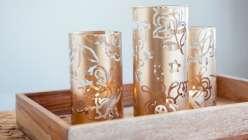 Make stenciled vases using the cricut explore.