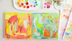 Learn how to make mixed media collage art.