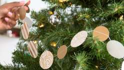 Gold and White Paper-Punched Tree Garland
