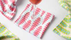 How to Sew Napkins: Liana Allday shares three different ways to make and finish cloth napkins, fringed-edge napkins, faux rolled-hem farmhouse napkins, and classic mitered corner napkins, as dinner party decor, as a gift, how select fabrics as a perfect s
