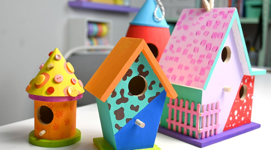 Mister Larrie's Craft Camp Birdhouses