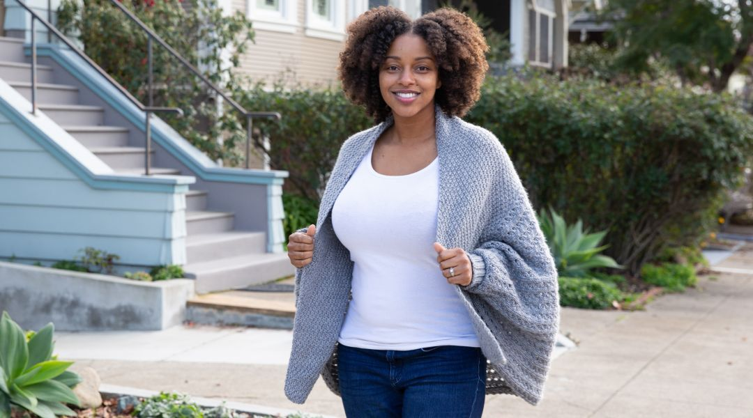 Knitted Cocoon Cardigan