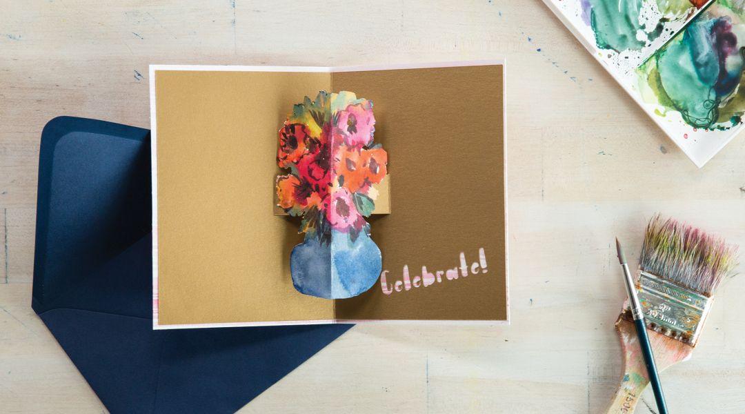 Cricut Crafts: Floral Pop-Up Card