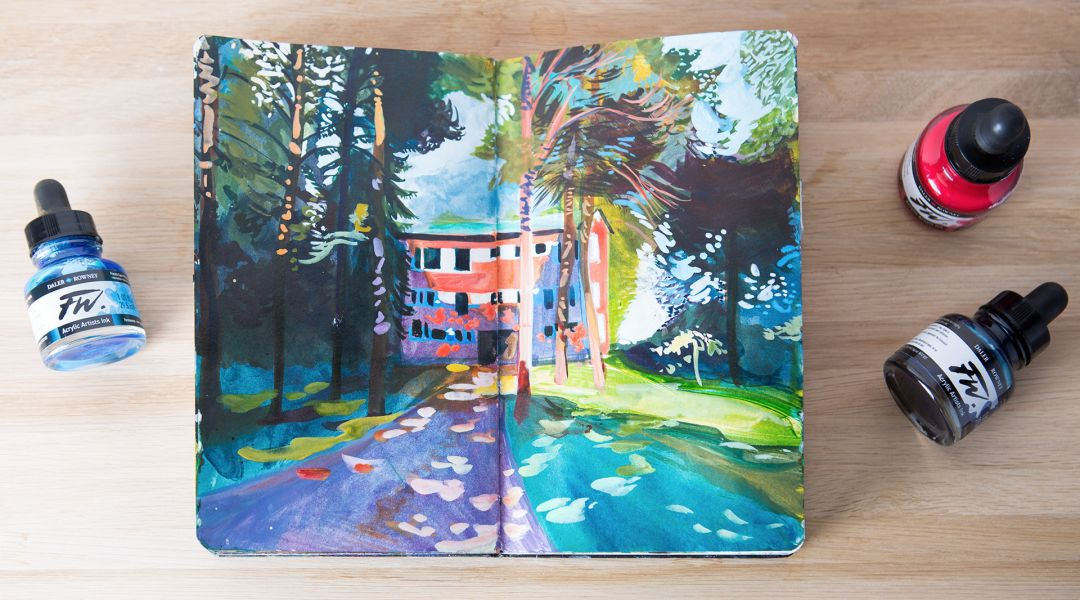 Acrylic Ink Painting: Capturing Complex Scenes