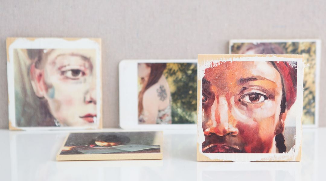 Color Image Transfers on Wood