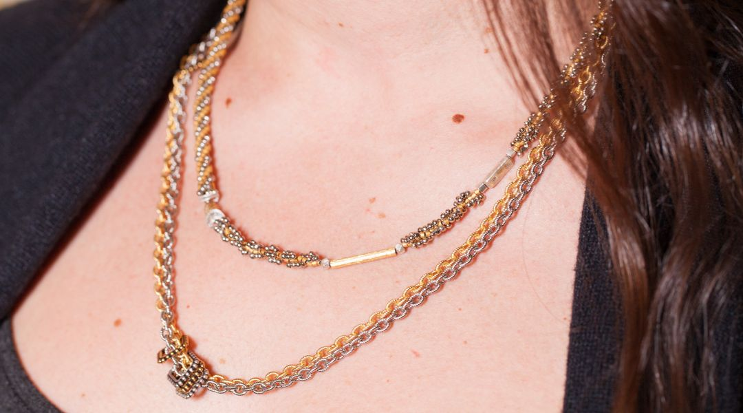 Bead-Weaving Roundabout Necklace