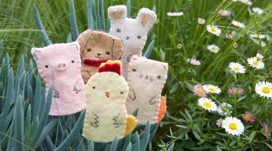 Hand Sew Farm Animal Finger Puppets