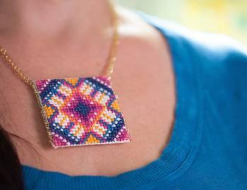 Cross Stitch Pendant