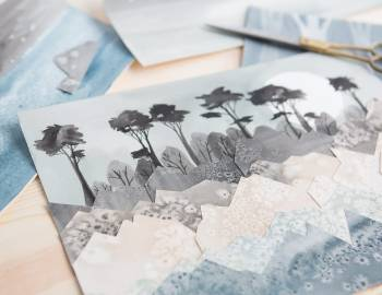 Playing with Watercolor: Part 3 - Painted and Collaged Landscapes