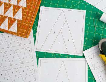 Paper-Pieced Quilts: Sewing Blocks and Assembling a Quilt Top