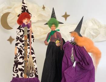 Halloween Paper Doll Witches