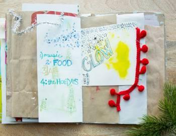 Holiday Art Journaling: Adding Bling