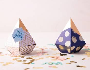 Cricut Crafts: Gemstone Favor Boxes
