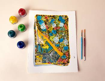 Painting Textiles in Acrylic Ink