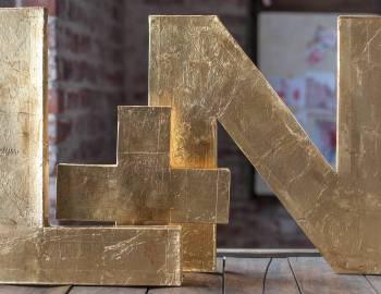 Paper Wedding Crafts: Make 3-D Monogram Letters