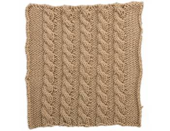 Cabled Afghan: BLOCK B - Basic Cables Square