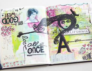 Art Journaling: Collage, Composition and Lettering
