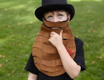 Last-Minute Halloween Costume: Felt Beards