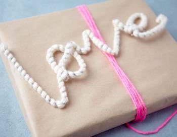 Make Valentine's Day Yarn-Wrapped Wire Words