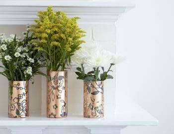 Cricut Crafts: Make Stenciled Vases