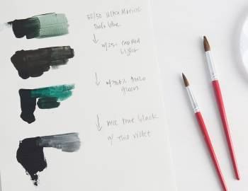 Mixing Black Using Acrylic Paint
