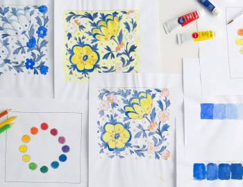 Color Wheel Basics: Working with Paints and Colored Pencils